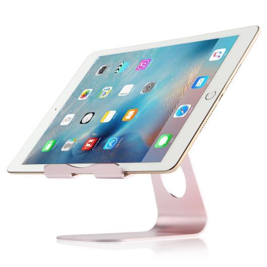 AL iPadスタンド メタル ステント iPad mini 4 7.9インチ タブレット PC サポート デスクトップ アルミ合金 ケース 選べる2カラー シルバー,ローズゴールド AL-AA-3768
