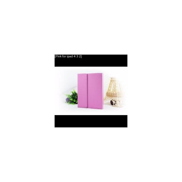 AL iPadケース iPad 4/3/2 ケース キーボード PUレザーフォリオ保護 カバー スタンド ワイヤレス Bluetooth [Pink for ipad 4 3 2] AL-AA-3144