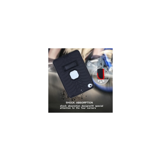 AL iPadケース iPad mini 3 衝撃吸収 ファッション スタンド 7.9インチ ソフト シリコン タブレット 選べる5カラー ブラック,ブルー,グリーン,パープル,ローズレッド AL-AA-3479