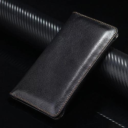 AL スマホケース レザー 携帯 電話 ケース ハンドカード ウォレット ポーチ ブラック レザー AL-AA-4344