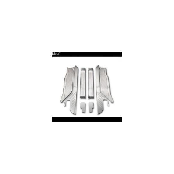 AL 車用メッキパーツ トヨタ エスティマ カー オート カバー タラゴ 2016 2017ステンレス スチール 敷居 しきい フットペダルスカッフプレートプレートトリム AL-AA-4869