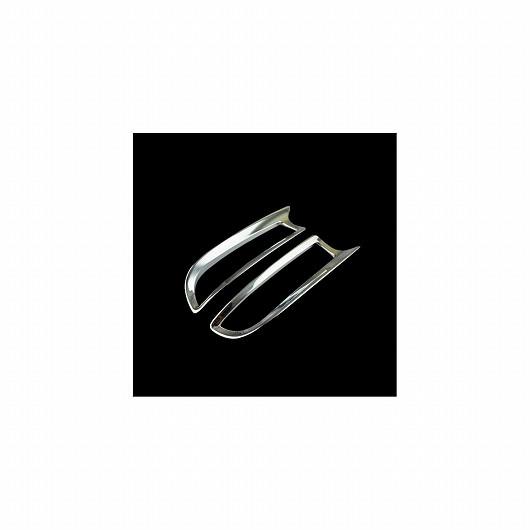 AL 車用メッキパーツ トヨタ エスティマ ABS クロームリアフォグライト カバー トリムフレーム オート 外装 アクセサリー 2ピース タラゴ 2016 AL-AA-4883
