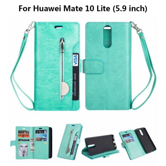 AL スマホケース Huawei ケース フリップ 電話 カバー レザー 9カード ホルダー ウォレット バッグ10 選べる7カラー 選べる2適用品 HUAWEI Mate 10 lite,HUAWEI Mate 10 Pro AL-AA-5544