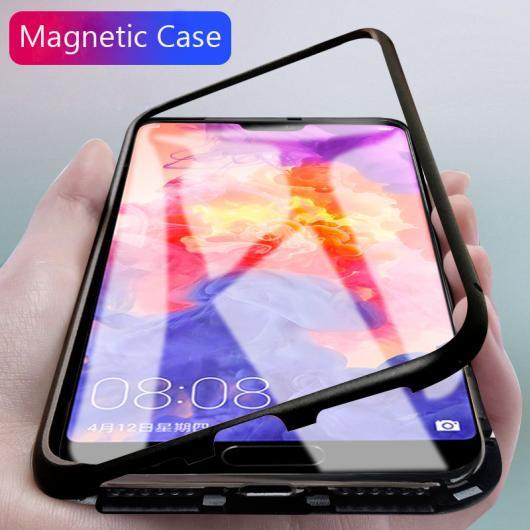 AL スマホケース Huawei マグネット アルミ メタル ケース クリア 強化 ガラス マグネット吸着 カバー 選べる5バリエーション 選べる5適用品 Mate 10, Mate 10 Pro, P20, P20 Pro, honor10 AL-AA-5630