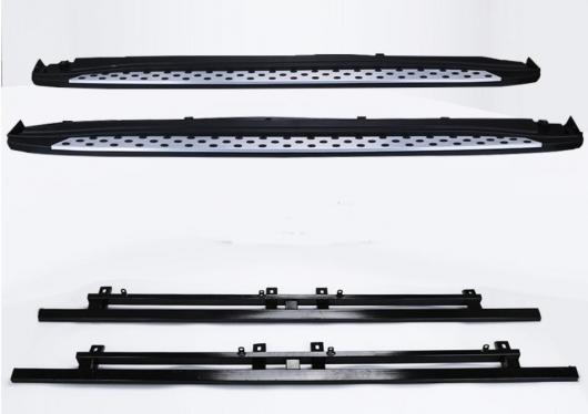 AL 車用メッキパーツ アウトランダー ランニングボード サイドステップ アルミバーペダル 三菱 2013 2014 2015 デザイン ナーフ バー AL-AA-5991