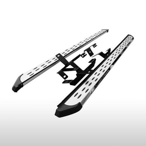 AL 車用メッキパーツ ナーフ バー サイドステップ 三菱 アウトランダー 2013-2018 ランニングボード 2ピース AL-AA-6003
