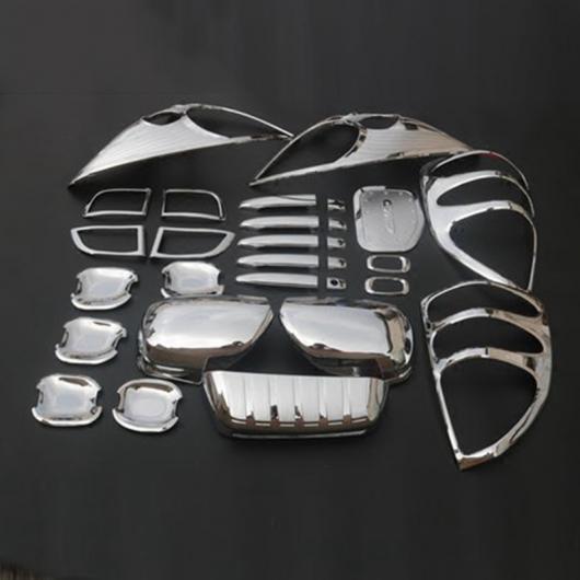 AL 車用メッキパーツ カー トヨタ ランドクルーザー プラドJ120 2003-2009 クローム リア ライセンス ヘッド テール ライト フォグ ハンドル ミラーカバー29ピース AL-AA-6241