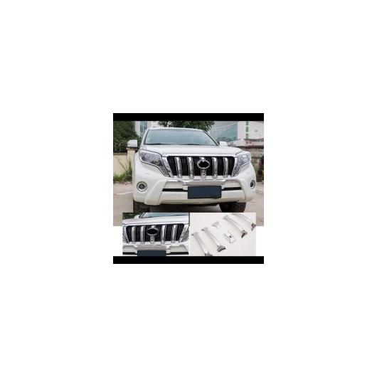 AL 車用メッキパーツ 6ピース クローム フロント グリル カバー トリム トヨタ ランドクルーザー プラド FJ 150 2014 2015 2016 2017 タイプC AL-AA-6250