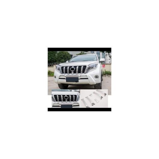 AL 車用メッキパーツ 6ピース クローム フロント グリル カバー トリム トヨタ ランドクルーザー プラド FJ 150 2014 2015 2016 2017 タイプD AL-AA-6250