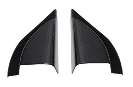 AL 車用メッキパーツ 2ピース ロット ABS カーボン ファイバー ピラー スピーカー 装飾 カバー 2018 ミツビシ エクリプス クロス AL-AA-6306
