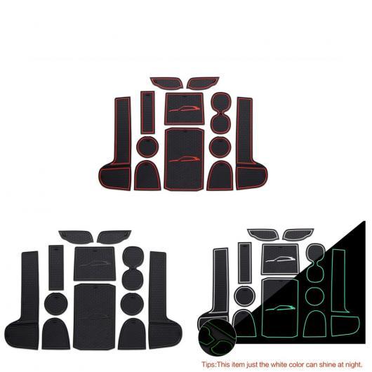 AL 車用メッキパーツ 三菱 エクリプスクロス 2018 インテリア ドアスロットマットパッド ゴムマット ドリンク カップ ホルダー パッドマット 12ピース 選べる3カラー ブラック,ホワイト,レッド AL-AA-6310
