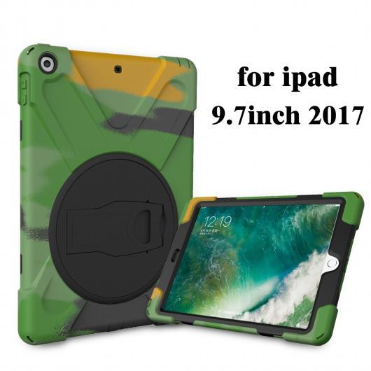 AL iPadケース 軍カモ迷彩パターン 背面 カバー iPad 9.7 ハード プラスチック ソフト TPU アーマー保護 ケース iPad 2017 2018 リリース 選べる7バリエーション AL-AA-6329