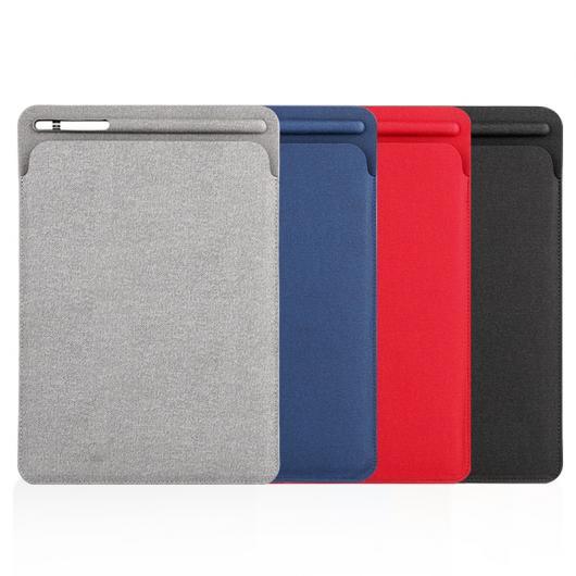 AL iPadケース リネン仕上げスリーブ ケース iPad Pro 10.5 ポーチバッグ カバー ペンシル スロット Pro 9.7 iPad 9.7 2018 リリース 選べる4カラー ブラック,レッド,ブルー,グレー AL-AA-6390