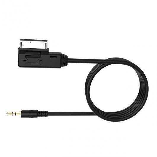 AL 車用ケーブル 2m キット MI オーディオ 音楽メディアインタフェース 3.5mm AUX アダプタ メルセデス・ベンツ CLS E ML S iPod iPhone 4 5 6 ブラック AL-AA-6635