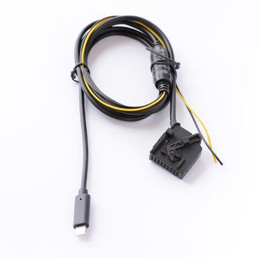 AL 車用ケーブル オーディオ AUX イン ジャック AUX ケーブル 充電 アダプタ BENZ COMMAND 2.0 iPhone 7 8 X 1pcs AL-AA-6704
