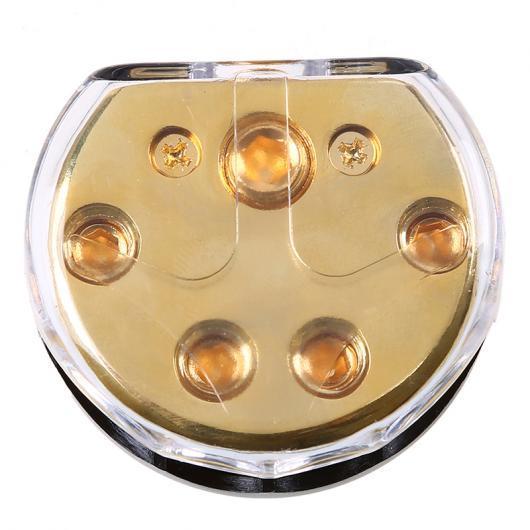 AL 車用ケーブル カー 電力分配ブロックヒューズ ホルダー ブラック+ゴールド 保護 オーディオ システム オペルフォード トヨタ ホンダ 1 In 4 Out AL-AA-6832