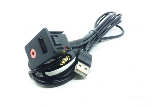 AL 車用ケーブル USB ポート 充電器 3.5mm AUX ソケットカー オーディオ 変換 アンテナエアリアル トヨタ フォルクスワーゲン AL-AA-6873