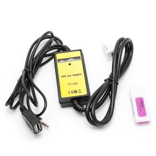 AL 車用ケーブル オーディオ AUX ケーブル オート USB アダプタ MP3 プレーヤーラジオインターフェイス トヨタ カムリ カローラ マトリックス AL-AA-6912