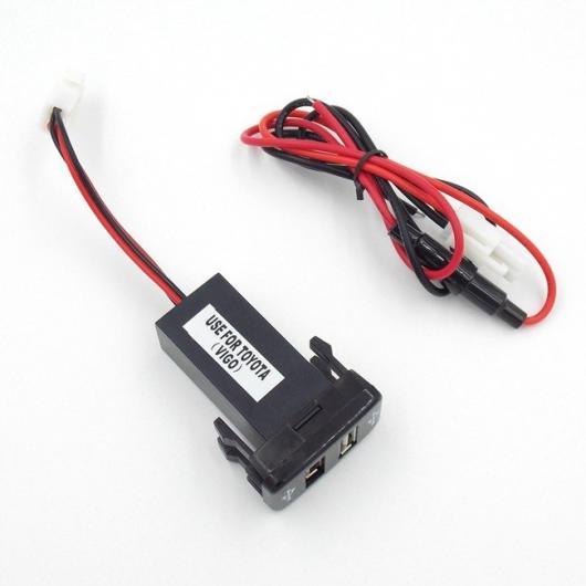 AL 車用ケーブル 2 USB インタフェースソケットスマート 電話 iPhone iPad GPS充電器 オーディオ 入力ソケット トヨタ カローラ ヤリス レイツ AL-AA-6914
