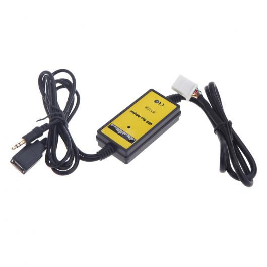 AL 車用ケーブル オートカー USB AUX ケーブル アダプタ MP3 プレーヤーラジオインターフェイス トヨタ カムリ カローラ マトリックス 2×6PIN オーディオ AL-AA-7017