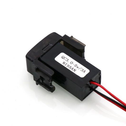 AL 車用ケーブル QC3.0 + 5V 3A USB インタフェースソケット高速 カー 充電器 急速充電 日産 キャシュカイ ティーダ エクストレイル サニー NV200 AL-AA-7366