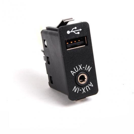 AL 車用ケーブル USB AUX ポート AUX IN USB オーディオ アダプタ 3PIN リア コネクタ BMW E39 E46 E53 X5 16:9 ナビ Only Switch AL-AA-7031
