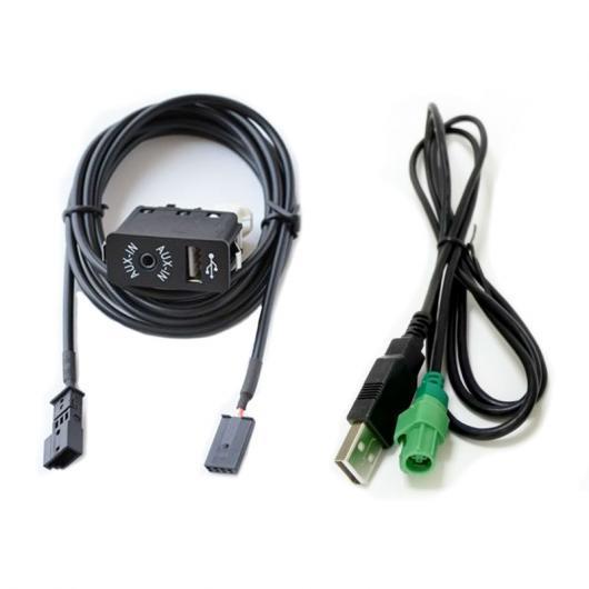 AL 車用ケーブル USB AUX ポート AUX IN USB オーディオ アダプタ 3PIN リア コネクタ BMW E39 E46 E53 X5 16:9 ナビ Full Set AL-AA-7031