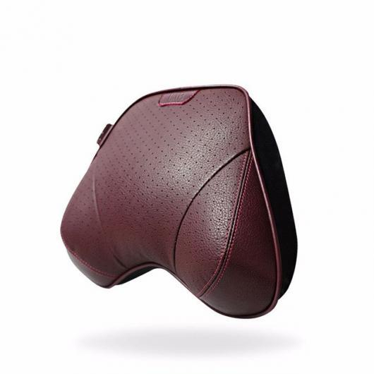 AL 車用ケーブル オート パーツ 2ピースネック枕 カー クッションオート枕 レザー 低反発枕 ヘッド 1 red neck pillow AL-AA-7216