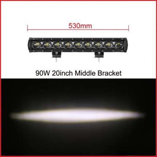AL 車用ケーブル 6D レンズ 単列 LED ライトバー車 トラック 4WD オフ道路 ATV トレーラー 防水 LED ライトバーオフロード 20 Inch 90W x1 AL-AA-7315