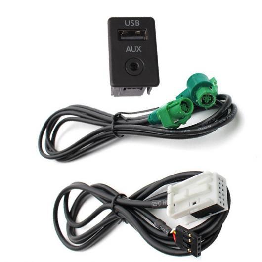 AL 車用ケーブル AUX USBスイッチ オーディオ ケーブル アダプタ BMW Z Serie e88 E90 E90LCI E91 E91LCI Serie 3 X5 X6 AL-AA-7039