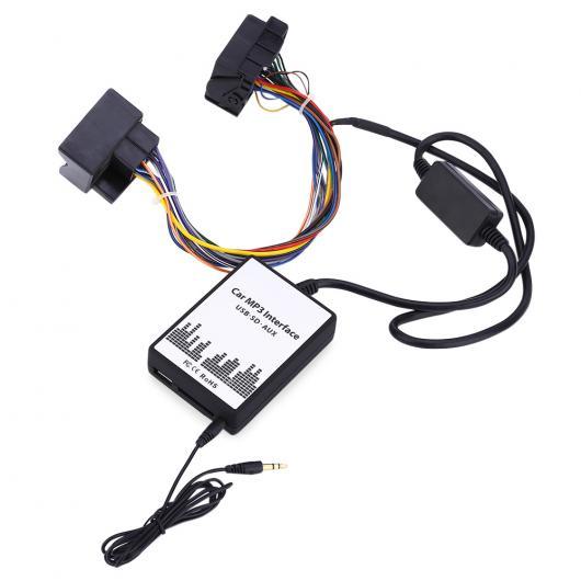 送料無料! AL 車用ケーブル カー MP3 インタフェース DC 12V USB SDデータ スピーカー ケーブル AUX アダプタ 40ピン オーディオ デジタル CD チェンジャー BMW AL-AA-7084