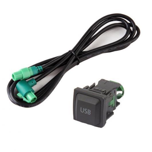 AL 車用ケーブル ステレオ オーディオ 拡張 4PIN ポート 4PIN ラジオ USB ケーブル アダプタ BMW VW one set AL-AA-7177