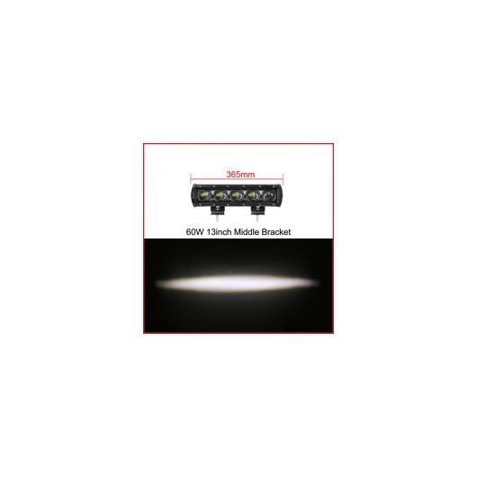 AL 車用ケーブル 6D レンズ 単列 LED ライトバー車 トラック 4WD オフ道路 ATV トレーラー 防水 LED ライトバーオフロード 13 Inch 60W x1 AL-AA-7315