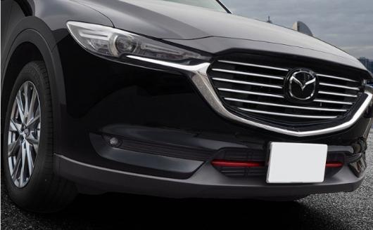 AL 車用メッキパーツ フロントフード ビレットグリル クローム ステッカー マツダ CX-8 キロ CX8 2017 2018 AL-AA-8023