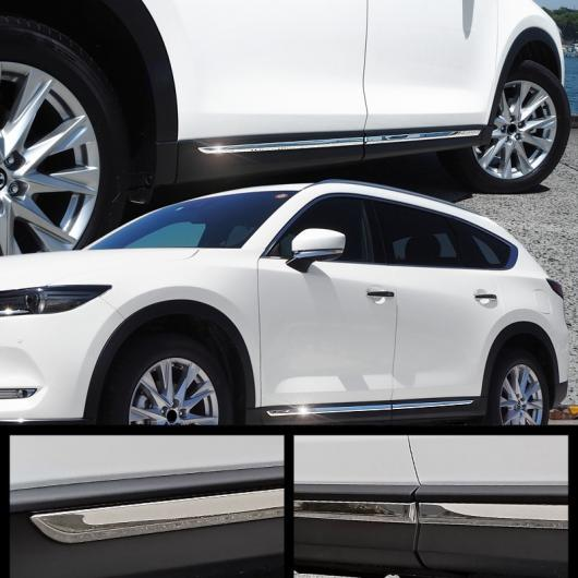 AL 車用メッキパーツ マツダ CX-8 CX8 2017 2018 2019 ABS クローム サイドボディ モールディング カバー トリム 4個 AL-AA-8025
