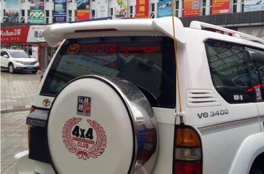 AL 未塗装 ABS テールウィング ルーフバイザー リアスポイラー トヨタ プラドFJ90 LC90 3400 AL-AA-8097
