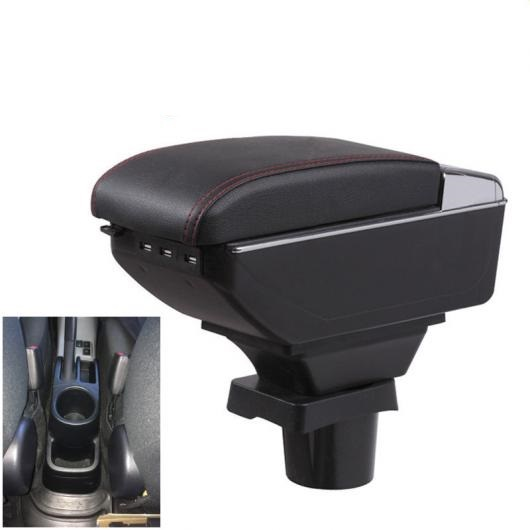 AL トヨタ アクア アームレスト ボックス センター 収納 カップホルダー 灰皿 USB [1] A style black~A style Beige AL-AA-8688