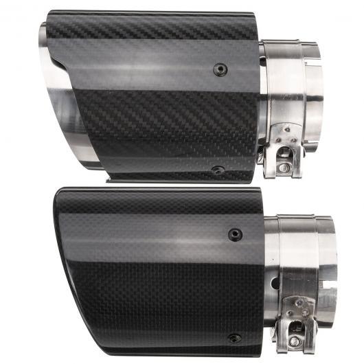 AL 汎用マフラーチップ マフラーカッター 66~101mm カーボン ファイバー エキゾースト パイプ リアテール スロート ライナー ストレートエッジ 選べる2バリエーション Straight Edge・Crimping AL-AA-9199