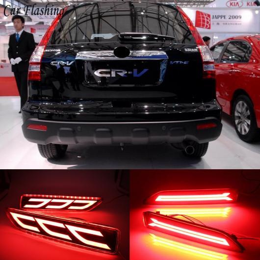 AL 2ピース ホンダ CRV CR-V 2007 2008 2009 多機能 LED テールリア バンパー リアフォグランプ バルブ ブレーキライトリフレクター 選べる2タイプ タイプA・タイプB AL-AA-9504