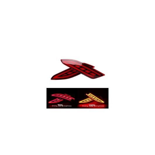 AL 2ピース レッド LED リア バンパー ライトリアフォグランプブレーキライトテールリフレクター ホンダ VEZEL HRV HR-V 2015 2016 2017 レッド AL-AA-9511