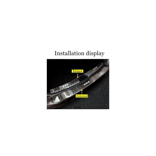 AL スバル フォレスター SK ステンレストランク リア ガードプロテクター バンパー プロテクター シル トランク トリム 2019 2020 選べる4バリエーション Inner Carbon Fiber~ExteriorCarbon Fiber AL-BB-0580