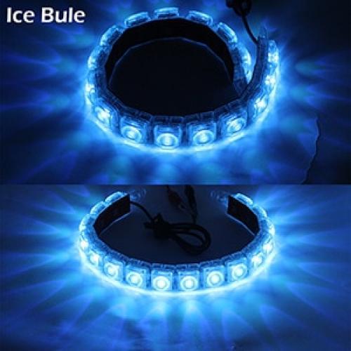 AL デイタイム ランニングライト DRL オートフレキシブル LED ストリップ ドライビング ライト デイライト フォグ ランプ 12V Ice Blue 14LED Transparent AL-BB-1173