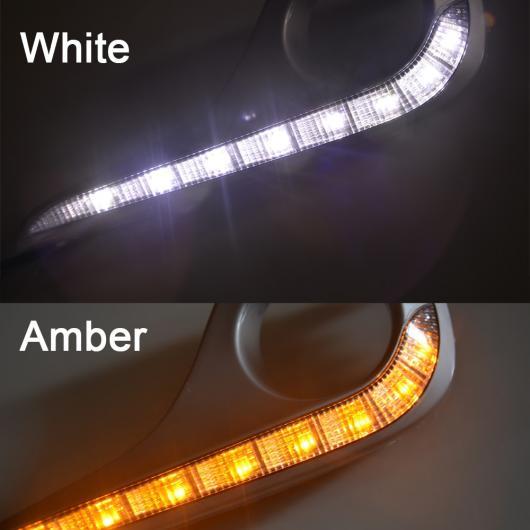 AL LED デイライト DRL トヨタ ハイランダー 2012 2013 デイタイムランニングライト Amber AL-BB-1162