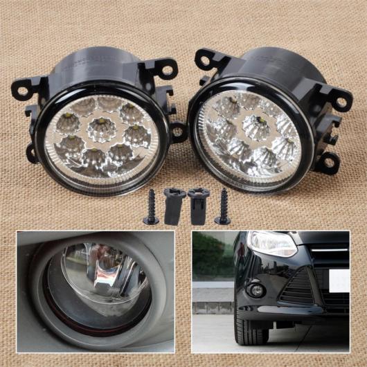 AL 2 × 55W 9-LEDラウンドフロント右 左フォグランプ DRL デイタイム ランニング ドライビング ライト4F9Z-15200-AA フォードフォーカスアキュラ ホンダ AL-BB-1279