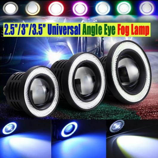 AL 防水プロジェクター LED レンズCCFLフォグライト 12V SUV ATVフォグランプ ホワイト ブルー イエロー レッド ピンク デイタイム ランニング White fog light angle~Green angle 89mm AL-BB-1312