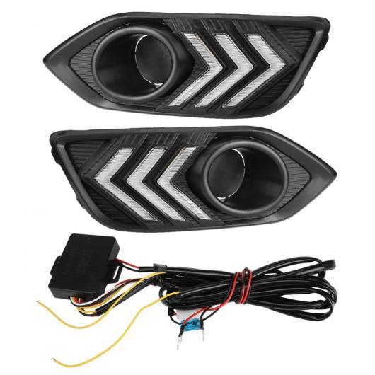 AL 1ペア 12 ボルト デイタイム シグナル 2 ランニング DRL LED フォグランプ カバー ホンダ HR-V 2018 AL-BB-1477