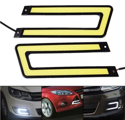 AL 2X 極細 DRL LED デイタイムランニングライト 信号黄 ガイドストリップヘッドライトアセンブリ AL-BB-1526