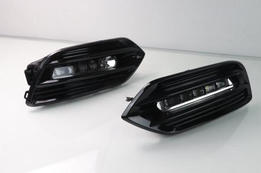 AL 2個 LED デイタイムランニングライト 12V DRL ランプ 装飾 ホンダ HRV HR-V ヴェゼル 2019 イエロー カラーターンシグナル機能 White AL-BB-1618