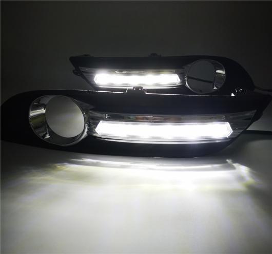 AL 2個 DRL デイタイムランニング ライト フォグ ランプ カバー イエロー シグナル 日産 セントラシルフィ 2012 2013 2014 2015 White AL-BB-1659