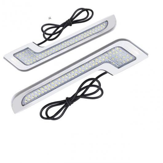 AL 2個 防水デイタイムランニング ライト LED DRL DIY 外部 超高輝度 12V CE ホワイト L Shape silver shell AL-BB-1670